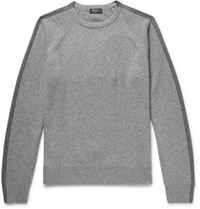 Berluti Two Tone Wool And Cashmere Blend Sweater Gray