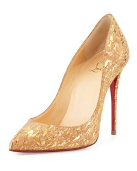 Christian Louboutin Pigalle Follies Cork 100Mm Red Sole Pump Multi