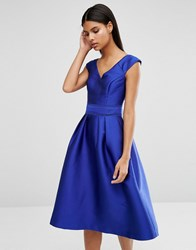 Oasis Satin A Line Dress Cobalt Blue