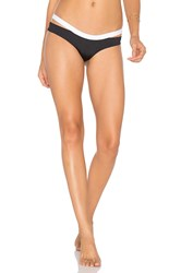 L Space Hollywood Bikini Bottom Black And White
