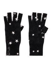 Autumn Cashmere Star Fingerless Gloves Black