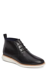 Cole Haan 'S Grand Evolution Chukka Boot Black Ivory Leather