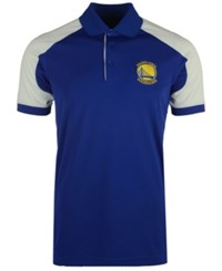Antigua Men's Golden State Warriors Century Polo Shirt Royalblue White