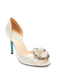 Betsey Johnson Emma Peep Toe Pumps Ivory