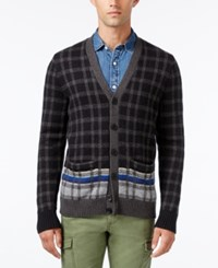 Tommy Hilfiger Men's Palmer Plaid Cardigan Black