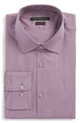 John Varvatos Men's Big And Tall Star Usa Regular Fit Stretch Dobby Dress Shirt Amethyst