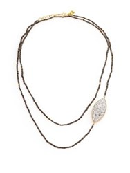 Shana Gulati Banjara Sirsi Sliced Raw Diamond Pyrite And 18K Yellow Gold Vermeil Necklace Gold Multi
