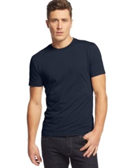 Alfani Red Slim Fit Crewneck T Shirt Neo Navy