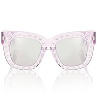 Acne Studios Library Embellished Sunglasses Purple