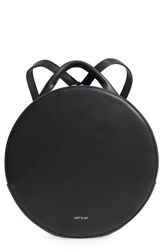 Matt And Nat Kiara Faux Leather Circle Backpack Black