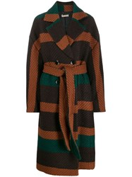 Ulla Johnson Belted Double Breasted Coat Brown