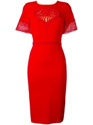 Piccione.Piccione Piccione. Piccione Fitted Dress Red