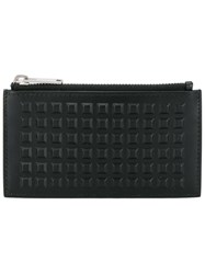 Balenciaga Studded Zip Wallet Black