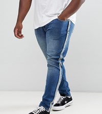 Jacamo Stretch Tapered Fit Jean In Mid Blue