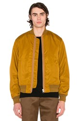 Maiden Noir Satin Bomber Yellow