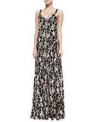 Thakoon Addition Printed Maxi Dress W Braided Straps