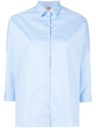 Fay Plain Shirt Blue