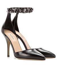 Valentino Love Latch Mary Jane Leather Pumps Black