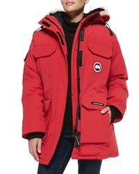Canada Goose Expedition Fur Hood Parka Red