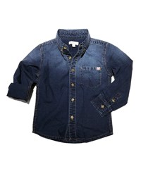 Appaman Remy Ombre Button Down Shirt Blue