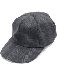 Ca4la Checked Hat Men Wool One Size Grey