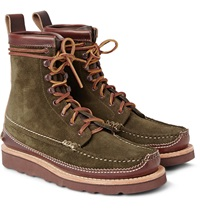 Yuketen Maine Guide Db Leather Panelled Suede Boots