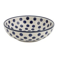 Bunzlau Castle Serving Bowl Blue Dots Small