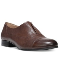 Naturalizer Carabell Oxford Flats Women's Shoes Tan