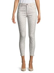 Design Lab Lord And Taylor Leopard High Rise Skinny Jeans Snow Leopard