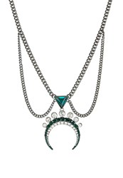 Ivyrevel Cyrus Necklace Emerald Hematite Green