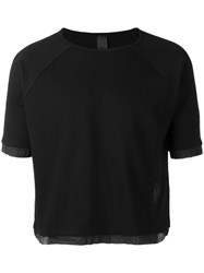 Odeur Cropped T Shirt Unisex Cotton S Black