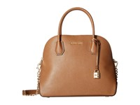 Michael Michael Kors Mercer Large Dome Satchel Luggage Satchel Handbags Brown