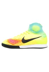 Nike Performance Magistax Proximo Ii Ic Indoor Football Boots Volt Black Hyper Turquoise Total Orange Pink Blast Yellow