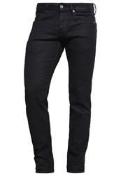 G Star Gstar 3301 Low Tapered Straight Leg Jeans Black Pintt Stretch Denim Coated Denim