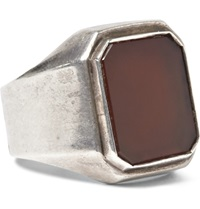 Foundwell Vintage Sterling Silver And Carnelian Ring
