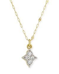 Jude Frances 18K Moroccan Diamond Quad Pendant Necklace Gold