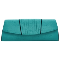 Jacques Vert Pleat Clutch Bag Emerald