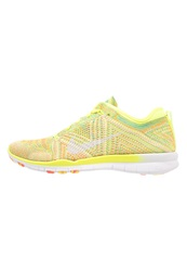 Nike Performance Free Trainer Flyknit Sports Shoes Volt White Hot Lava Neon Yellow