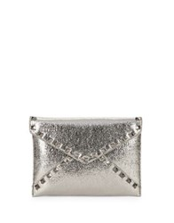 Design Lab Lord And Taylor Envelope Clutch Pewter