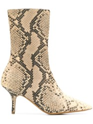 Yeezy Snake Pattern Boots Nude And Neutrals