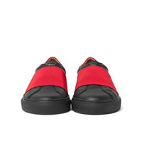 Givenchy Elasticated Strap Leather Sneakers Black