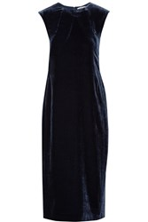 Elizabeth And James Michelle Cutout Velvet Midi Dress Navy