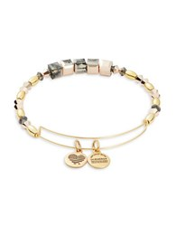 Alex And Ani Crown Beaded Slip On Bangle Gold