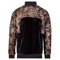 W.S. Studio Golden Faux Fur Top Gold Black