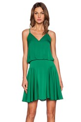 Milly Silk Crepe Tank Dress Green