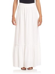 Splendid Crosshatch Pull On Maxi Skirt White