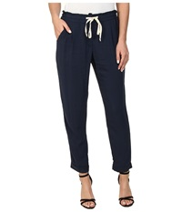 Splendid Rayon Voile Paperbag Pant Navy Women's Casual Pants