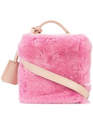 Natasha Zinko Rex Square Bag Pink And Purple