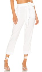 Bella Dahl High Waisted Side Trimmed Pant In White.