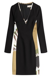 Emilio Pucci Printed Dress With Wool Multicolor